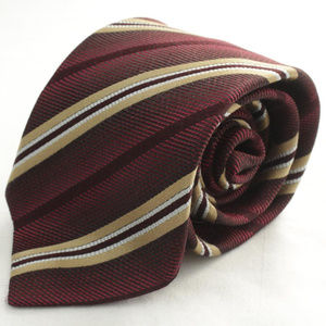 "#Gucci 3 3/4"" 57"" Red Stripe Print Silk Neck Tie"